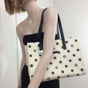 Dooney & Bourke Polka Dot East West Shoulder Bag